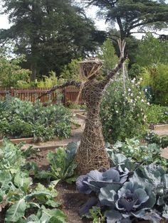 Show Gardens - Trentham Gardens - wicker sculptures - scarecrow