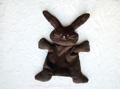 Chocolate Bunny Rabbit Plush Softie Chocolate by BubbleGumDish, $26.00