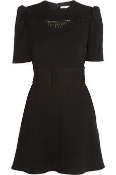 Carven Embellished wool-crepe mini dress | NET-A-PORTER love