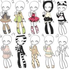 Well, i had left over ideas from the application...or rather didnt make it to the applications wince when i did this it was already over...hm...?Any case a mini-auction type thing~----Please Commen... Kawaii Drawings, Cute Drawings, Drawing Sketches, Character Inspiration, Character Art, Chibi Kawaii, Drawing Anime Clothes, Fashion Design Drawings, Drawing Base