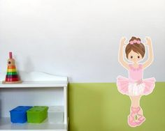 Spectacular Buntes Wandtattoo Ballerina Ballerina in H he ab cm