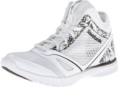 Reebok Womens Dance N Twist Mid WhiteBlack Sneaker 10 B M -- For more information, visit image link.