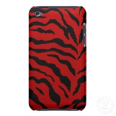 Case-Mate iPod Touch Barely There Case Red Zebra