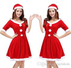 Santa Costume Dress Christmas Clothing Female Adult Halloween Role Playing The Uniform Suits Sexy Fancy Dress