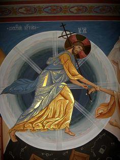 Byzantine Icons, Byzantine Art, Christian Paintings, Christian Art, Catholic Art, Religious Art, Greek And Roman Mythology, Christ The King, Jesus Art