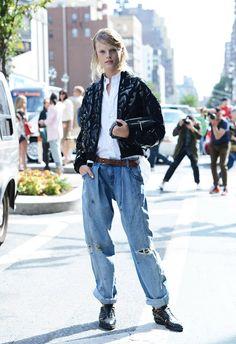 Baggy jeans ensemble #TommyTon