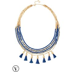Stella & Dot Tulum Tassel Necklace (130 CAD) ❤ liked on Polyvore featuring jewelry, necklaces, tassel chain necklace, strand necklace, polish jewelry, stella dot necklace and tassel necklace