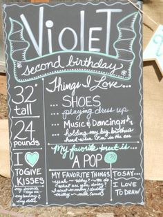 Burlap and Blue Chalkboard  Little Big Company | The Blog: A Mint Themed 2nd Birthday by Jackie from Jack and Kate