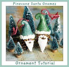 jessica jane: military wife & artist.: Santa Gnome Pinecone Ornament Tutorial