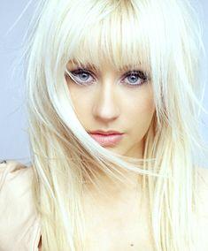 Bangs. Christina Aguilera.