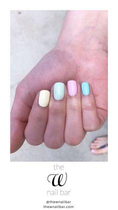 Patel multicolored nails // rainbow mani // spring nail trends #nailsinspiration #nailsofinstagram #nailcolors Spring Nail Trends, Spring Nails, Multicolored Nails, Nail Bar, Creative Nails, Nail Inspo, Nails Inspiration, Nail Colors, Nail Designs