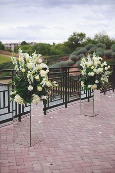 Tall White Flower Arrangements in Mirror Boxes   Eyes 2 See https://www.theknot.com/marketplace/eyes-2-see-scottsdale-az-877643   Westin Kierland Resort   Thee Wedding & Event Warehouse https://www.theknot.com/marketplace/thee-wedding-and-event-warehouse-valleywide-az-229099  