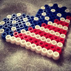 American flag out of perler beads for Red Friday!