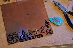 Shealynn's Faerie Shoppe: The Making of Hand Drawn Copper Jewelry