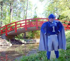 Flat Blue Devil visits the Sarah P. Duke Gardens