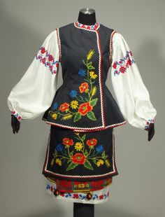Items similar to Complete Woman's Ukrainian Folk Costume from Ukraine - embroidered blouse Floral Blouse, European Costumes, Royal Clothing, Folk Costume, Embroidered Blouse, Dance Outfits, Apron, Trending Outfits, Shopping