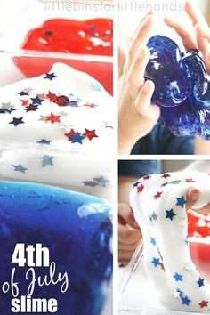 July 4th Slime Independence Day Slime Patriotic holiday activity