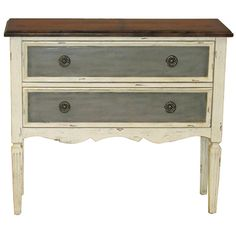 Hand Painted Distressed Vintage Cream Accent Chest | Overstock™ Shopping - Great Deals on Coffee, Sofa & End Tables