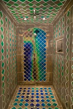 Shower Changes Color When Exposed To Warm, Cold, Or Hot Water / Mid-evil Custom Shower - eclectic - bathroom - other metro - Moving Color Inc
