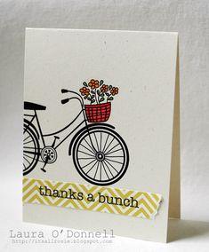 cute, Hero Arts Flower Bicycle