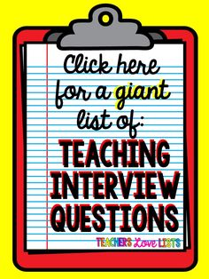 Great tips for how to be prepared for your teaching interview. a must read for any teacher going to an interview! Huge list of teaching interview questions to prepare for! Teaching Interview Questions, Teacher Job Interview, Teacher Interviews, Job Interviews, Interview Tips For Teachers, Interview Nails, Teaching Resume, Teaching Career, Teaching Ideas
