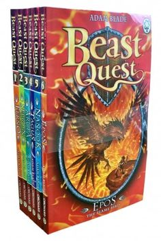 Beast Quest Pack: Series 1, 6 books, RRP £29.94 (Arcta the Mountain Giant, Epos the Flame Bird, Ferno the Fire Dragon, Nanook the Snow Monster, Sepron the Sea Serpent, Tagus the Horse-Man). (Beast Quest) by Adam Blade http://www.amazon.co.uk/dp/B00406X22S/ref=cm_sw_r_pi_dp_9oq0vb1735X6Z