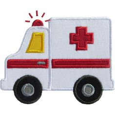 Ambulance Applique by HappyApplique.com
