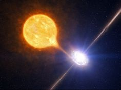 Black hole devouring a star. * actually an artists rendition only.