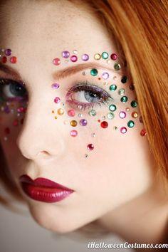 halloween makeup colorful sequins - Halloween Costumes 2013