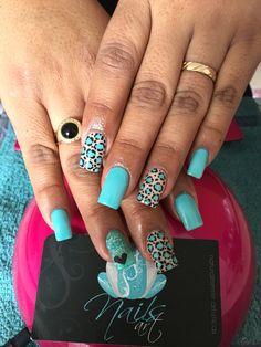 Acrylic Nails, nails art, blue nails