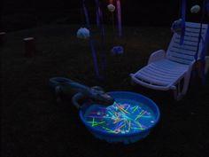 #Neverland Lagoon: Kid Pool, Glow Sticks, Inflatable Crocodile, Gold Coins