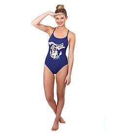 858e1c10f8 Betsey Johnson Stripe Away Retro One-Piece Swimsuit- Dillard s Retro One  Piece Swimsuits