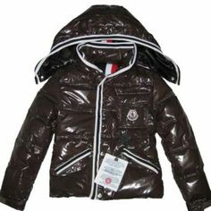 75feaf947061 Quality unmatched down jacket!Moncler Kids Coat Hooded With Brown