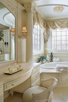 Dream Bathrooms, Beautiful Bathrooms, Modern Bathroom, Luxury Bathrooms, Bathroom Ideas, Luxury Bathtub, Minimalist Bathroom, French Bathroom, White Bathrooms