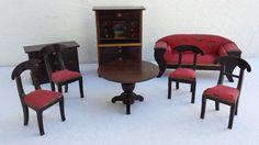 Biedermeier Möbel, Puppenküche, Puppenstube, Möbelkonvolut, Puppenstubenzubehör in   eBay