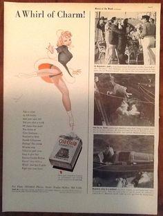 Old Gold Cigarettes Vintage Original Ad 1939 1930s Ice Skater Art George Petty | eBay