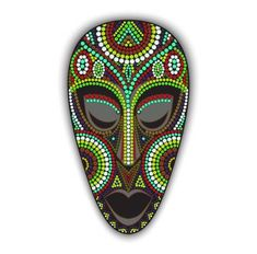 Set of african masks of different shapes. Mask Painting, Dot Art Painting, Art Du Monde, Art Pierre, Afrique Art, African Art Paintings, Art Premier, School Art Projects, Masks Art