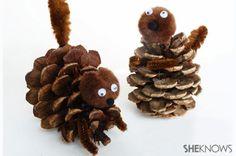 On retrouve facilement des cocottes de pins à l'extérieur! Je vous ai trouvé toutes sortes de décorations à faire avec ces cocottes! Vous pourrez en faire pour votre spin de Noël, avec de la peinture et du vernis acrylique, de la feutrine, des pompo