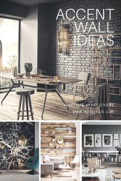 There are limitlessaccentwall ideasthat can bring contrast, textureand detail into your home design. An accent wallallows a room to look highly styled with little impact on the rest of the house; no need to move
