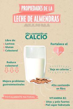 Aquí te explicamos más beneficios de la leche de almendras y formas de uso, ¡Te sorprenderás!