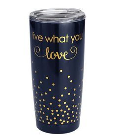 $19.99 marked down from $35! Navy 'Live What You Love' Double-Wall Mug #zulilyfinds