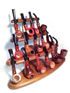 Pipes en bois nouveau Standvitrine titulaire Rack par FashionPipes, $76.00