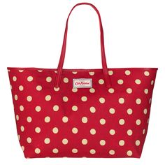 Button Spot Large Leather Trim Tote | Cath Kidston |