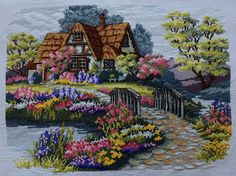 New Finished Completed Cross Stitch - HOME - 11CT - 945u