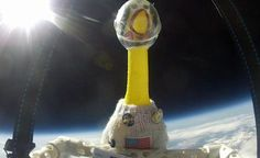 Weirdest astronaut ever! School science pupils send Rubber chicken to the edge of the atmosphere in knitted NASA suit! Astronomy Science, Stem Science, Space And Astronomy, Weather Balloon, Rubber Chicken, Space Launch, Helium Balloons, Nasa, Galaxies