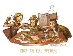 """Frigga: the real superhero. I'm not sure where to put this, so I'll just put it on """"Fangirl"""" with all the other Loki pins."""
