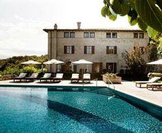 Villa Arcadio resort (BS) Lettino in teak e ombrellone by Velmo Italia