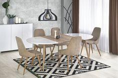 Bryce Extendable Dining Table Norden Home Glass Dining Table, Dining Chairs, Dining Sets, Furniture Box, Remo, Dcor Design, Small House Design, Hazelwood Home, Extendable Dining Table