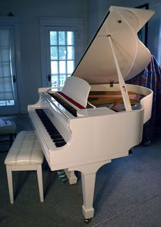 white baby grand piano, Gorgeous!