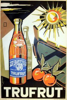 Trufrut, 1958 - original vintage poster by Emvin Cremona listed on AntikBar.co.uk